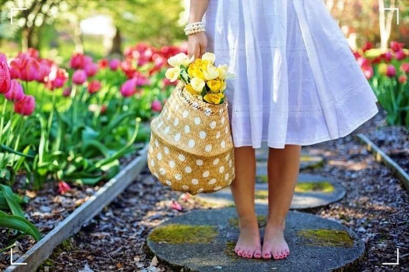 сумка цветов