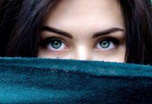 девушка с красивыми бирюзовыми глазами