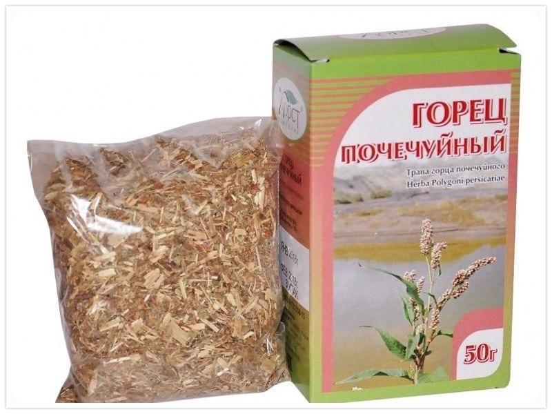 сухая трава горца почечного
