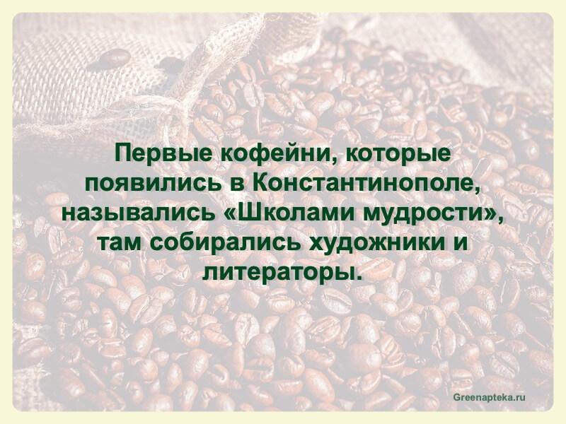 первые кофейни